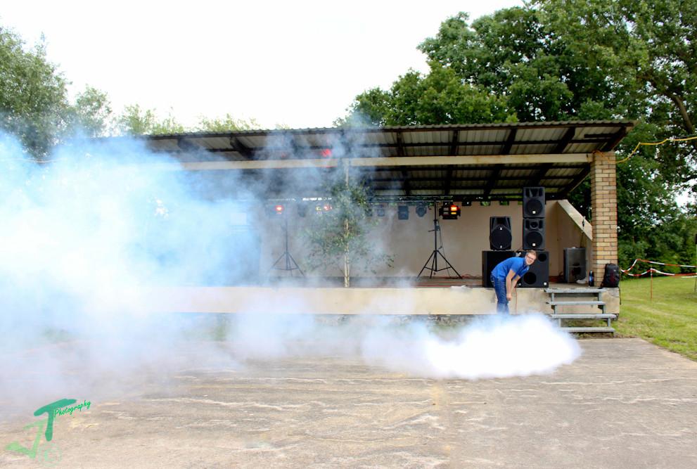 Test der Nebelmaschine