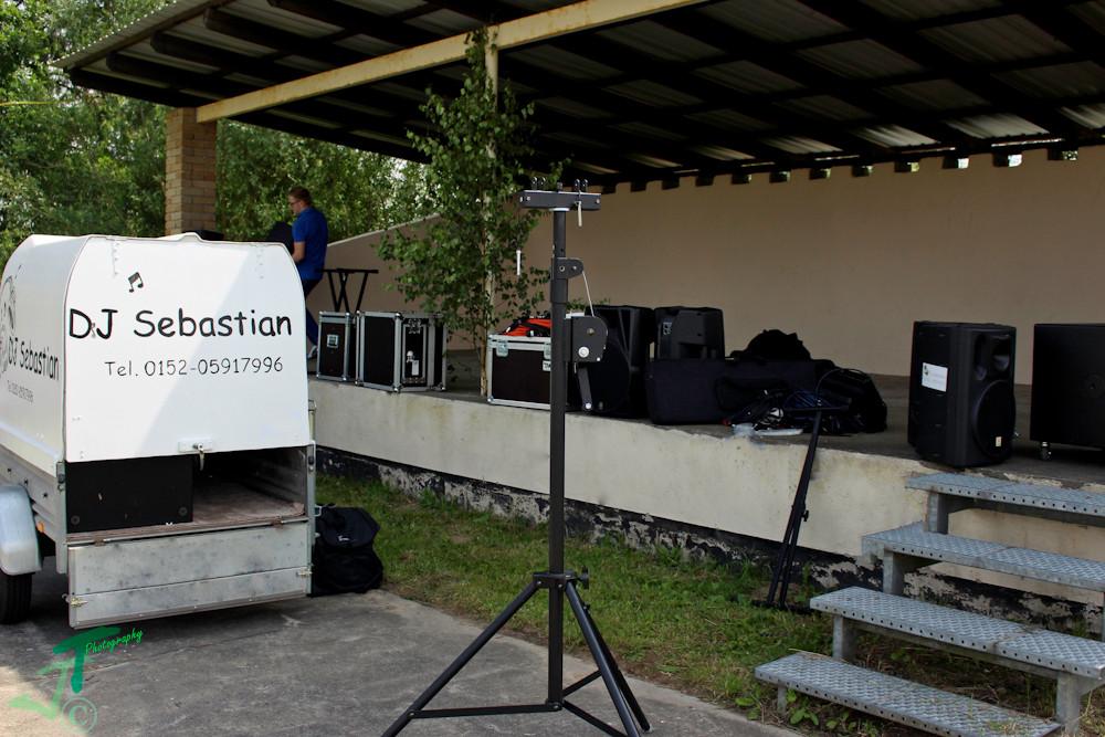 Aufbau für Open Air Events