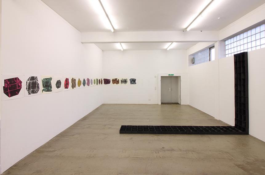 """""""schwarz - weiß"""", 2017, Situation Künstlerwerkstatt L6, Freiburg"""