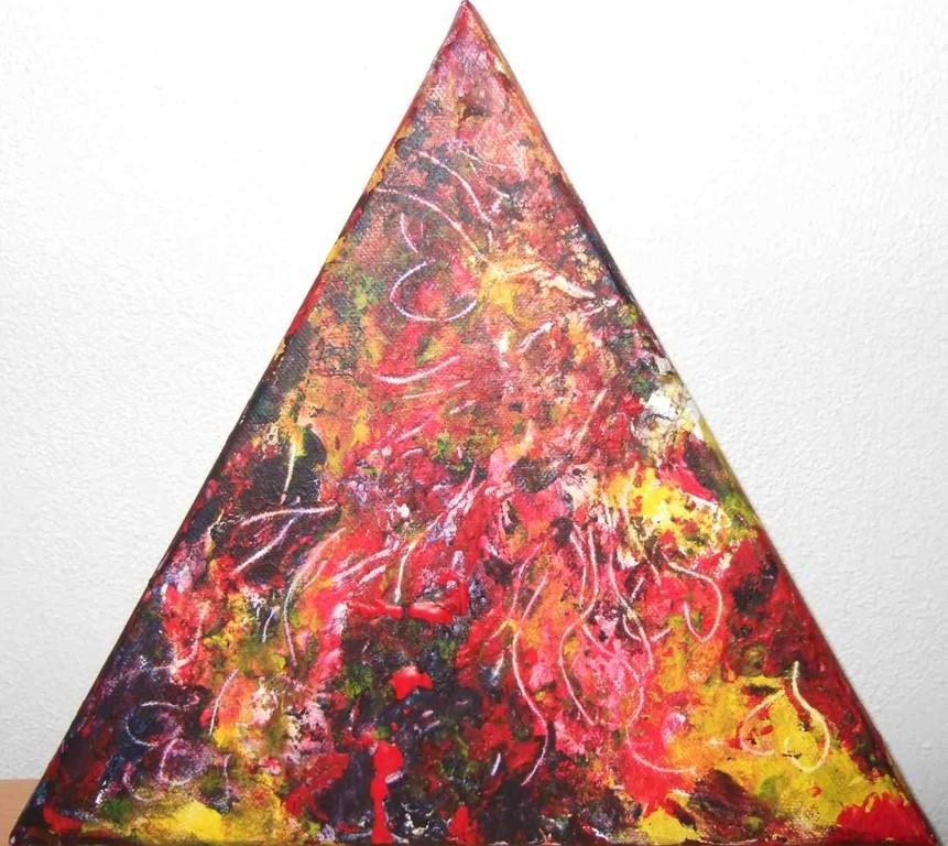 Art-Nr. 028 - Farbspiel I / Acryl, Tapetenkleister auf Leinwand