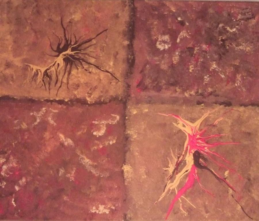 Art-Nr. 020 - Relief I / Acryl auf Leinwand