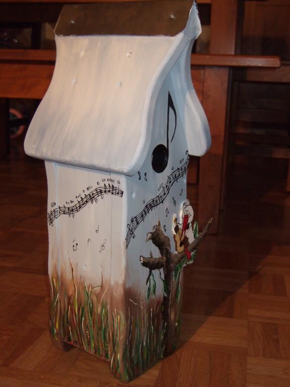 Art-Nr. 023 - Nistkasten - Vogelhochzeit / Massivholz
