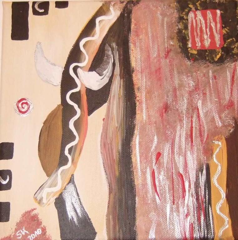 Art-Nr. 31 - Afrika I / Acryl auf Leinwand 20 x 20 cm