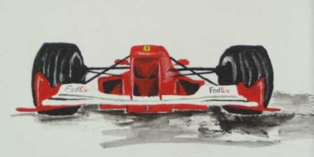 Art-Nr. 014 - Formel 1 Ferrari / Acryl