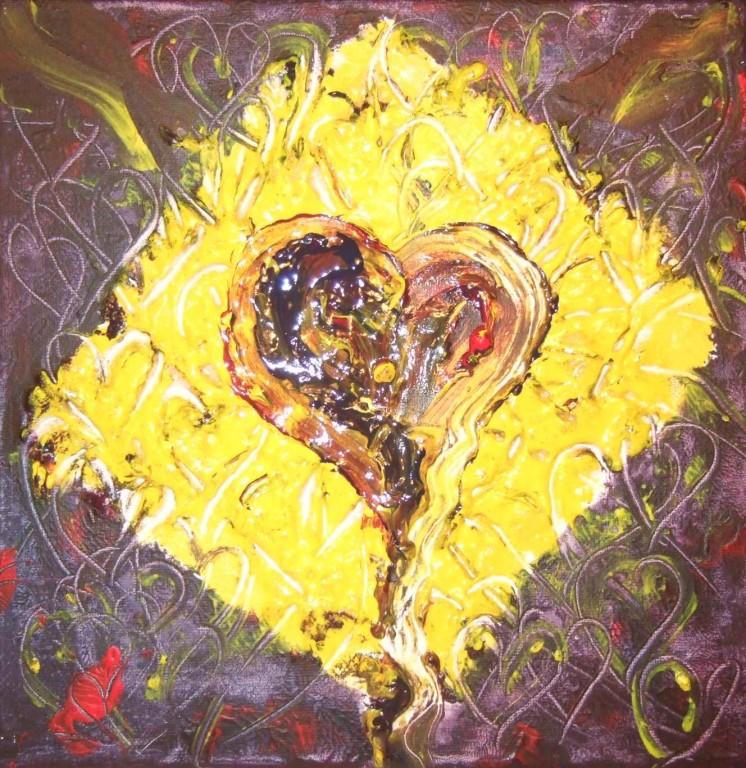 Art-Nr. 026 - Freude / Acryl auf Leinwand 20 x 20 cm