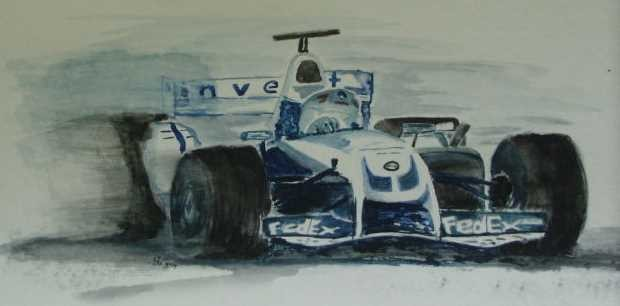 Art-Nr. 013 - Formel 1 BMW/Williams / Aquarell