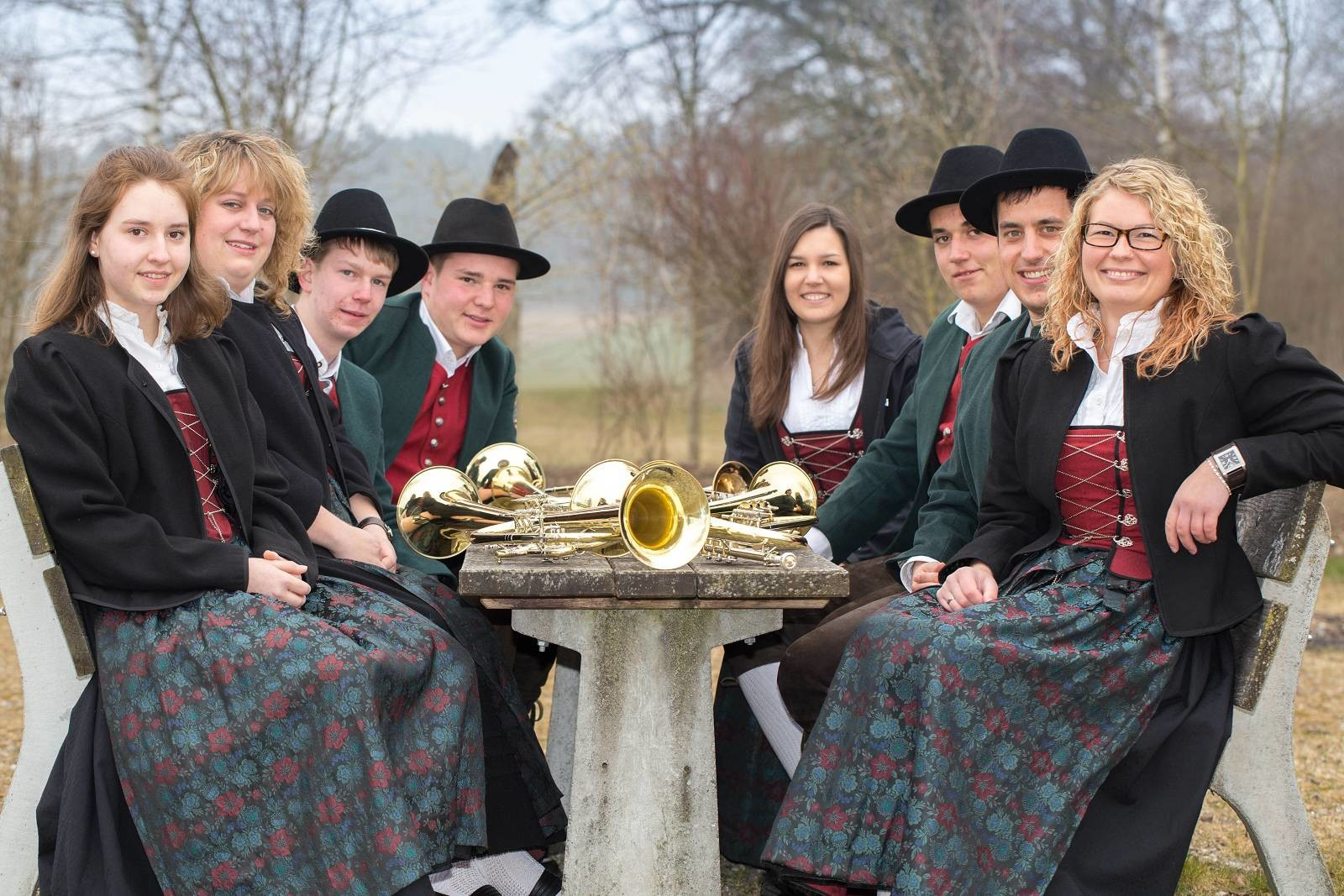 von links: Katja Maier, Petra Schuhwerk, Rainer Müller, Cedric Schreiber, Lena Muck, Patrick Wörz, Daniel Schedel, Kathrin Betz