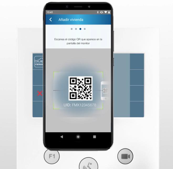 Añadir QR a la app Blue de fermax