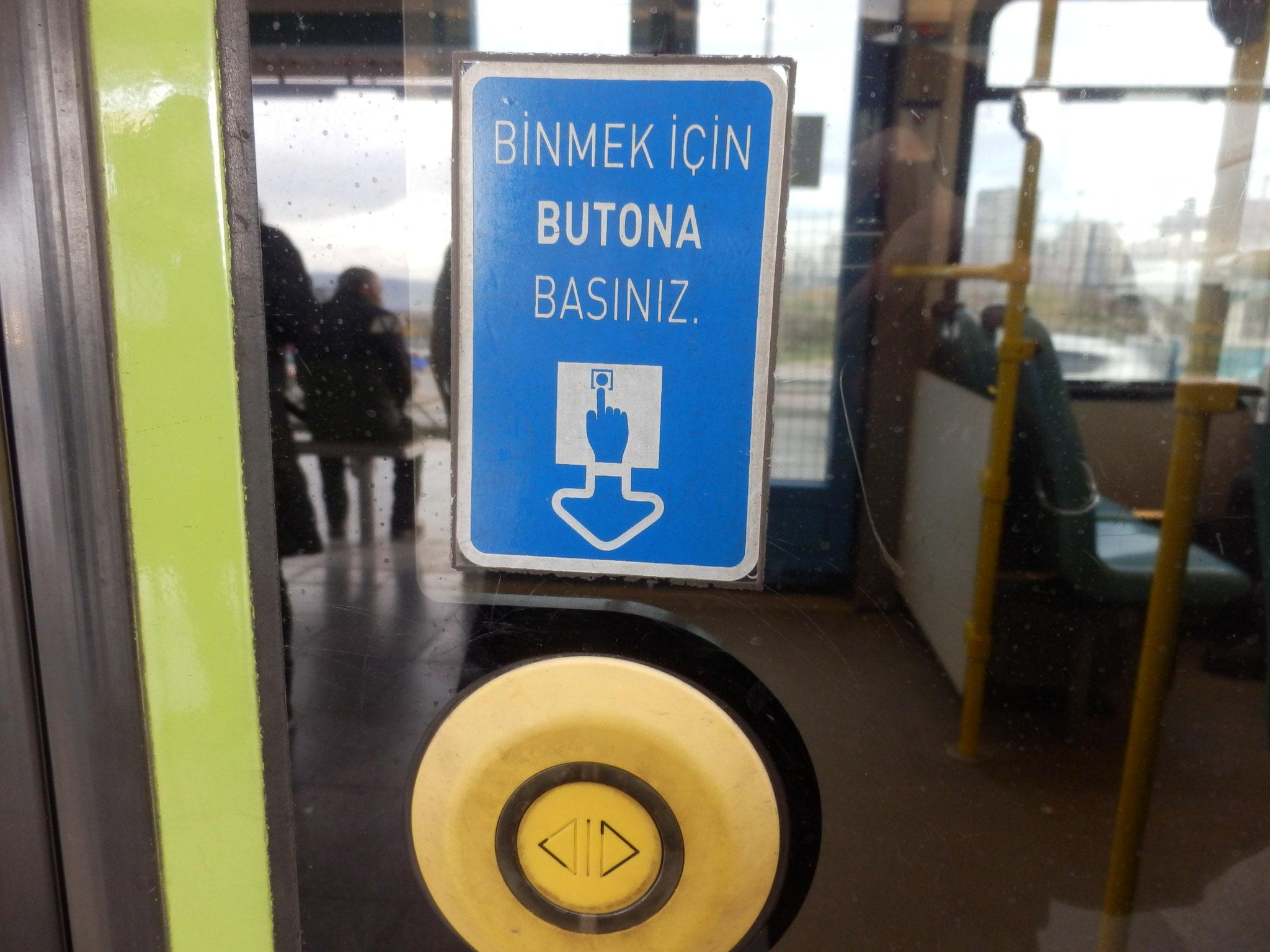乗車用ボタン