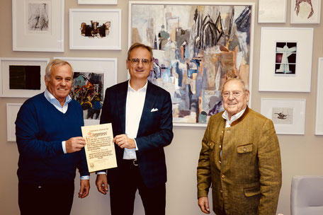 Bürgerbrief von Stadtamhof für Kulturreferenten Wolfgang Dersch