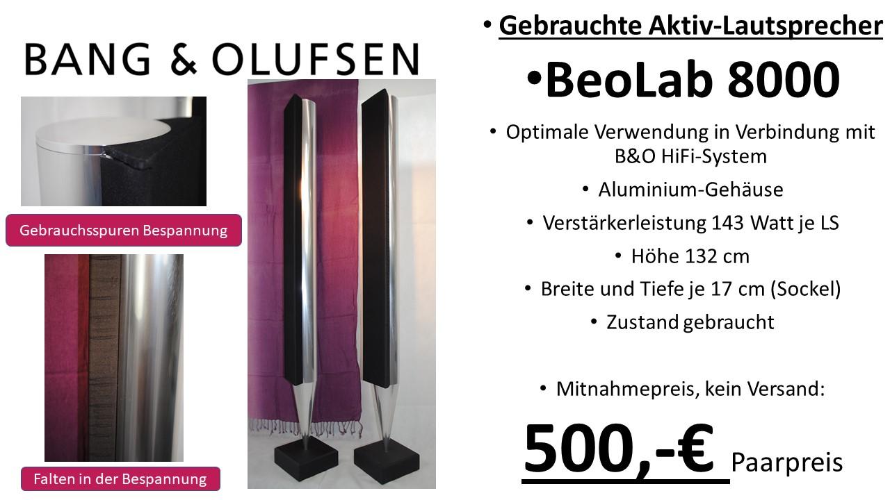 Bang & Olufsen HiFi BeoLab 8000 aktiv Lautsprecher