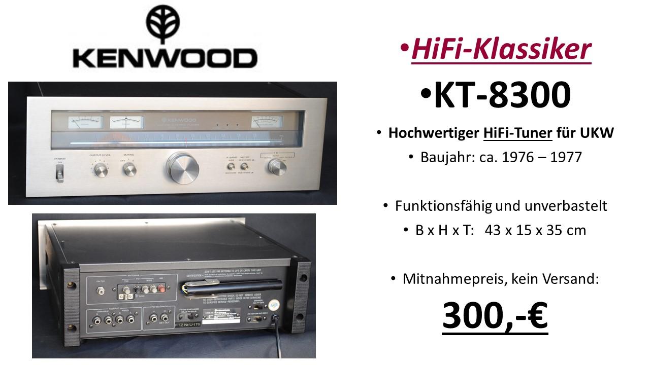 Kenwood HiFi KT-8300 UKW-Tuner
