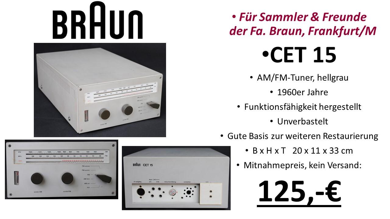 Braun HiFi CET 15 UKW-Tuner