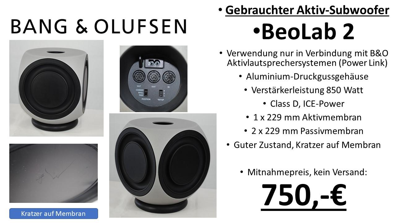 Bang & Olufsen HiFi BeoLab 2 aktiv Subwoofer