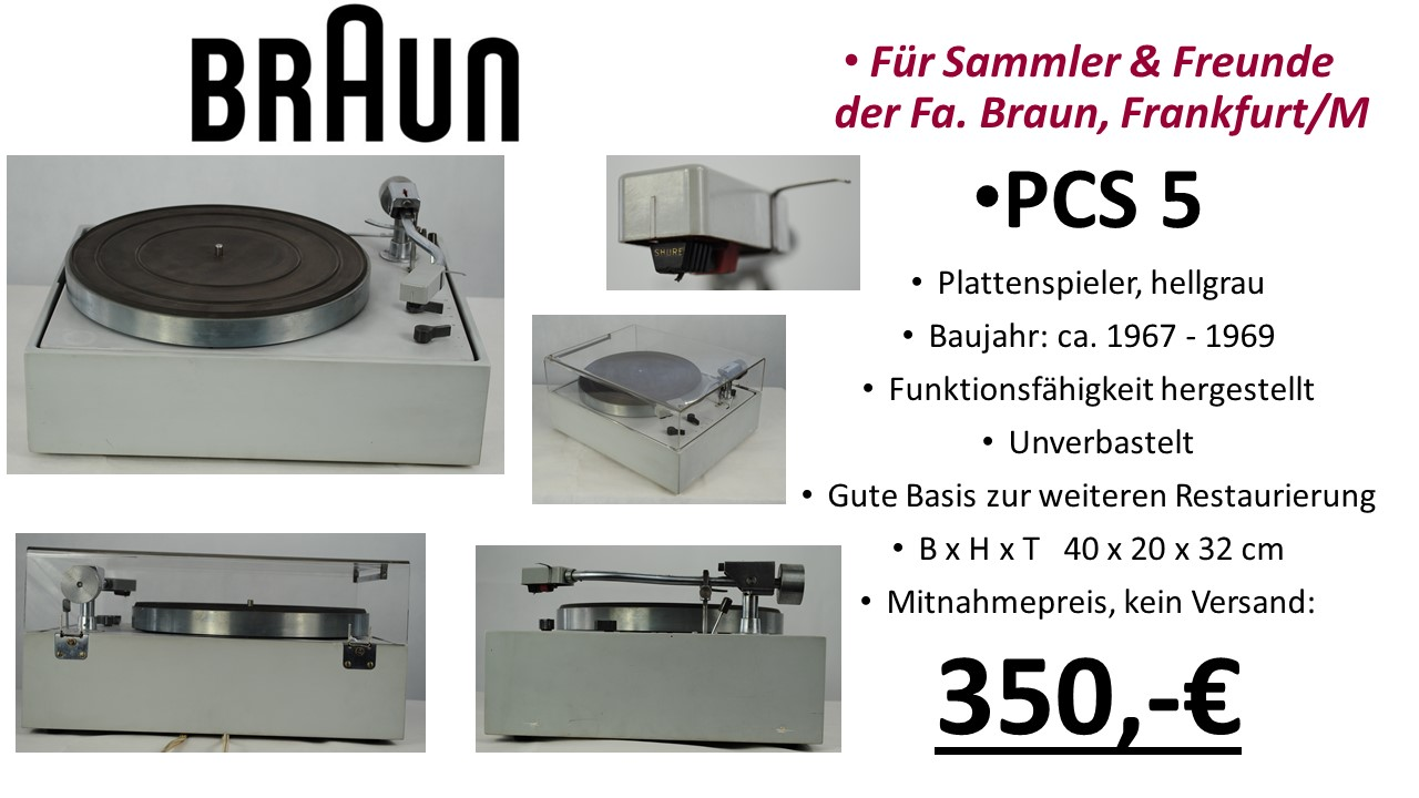 Braun HiFi PCS 5 Plattenspieler