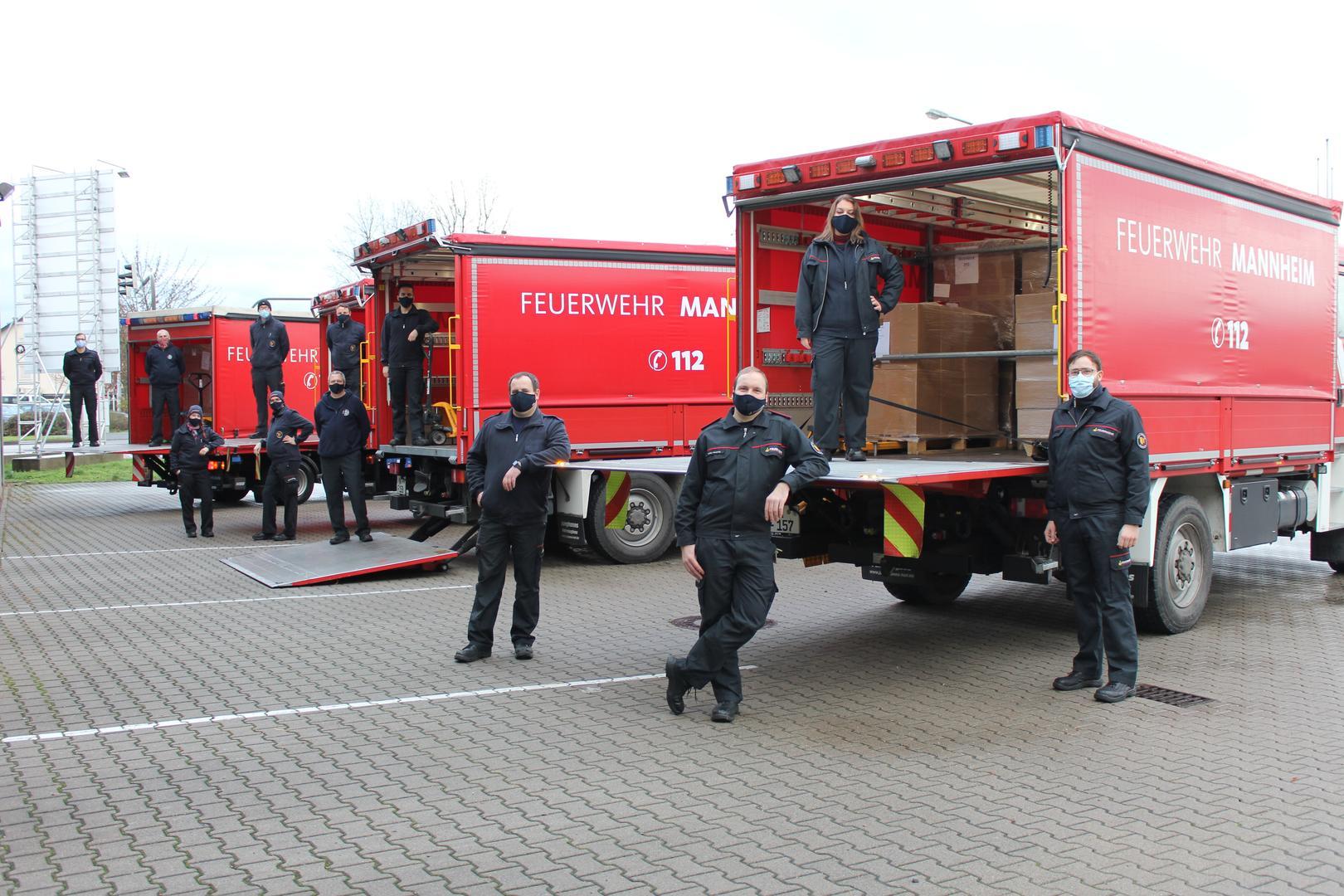 Feuerwehr verteilt 312.000 Masken an Alten- und Pflegeheime