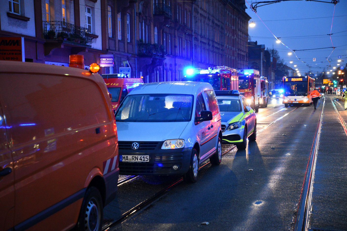 Heidelberg: Schwerer Verkehrsunfall mit Straßenbahn