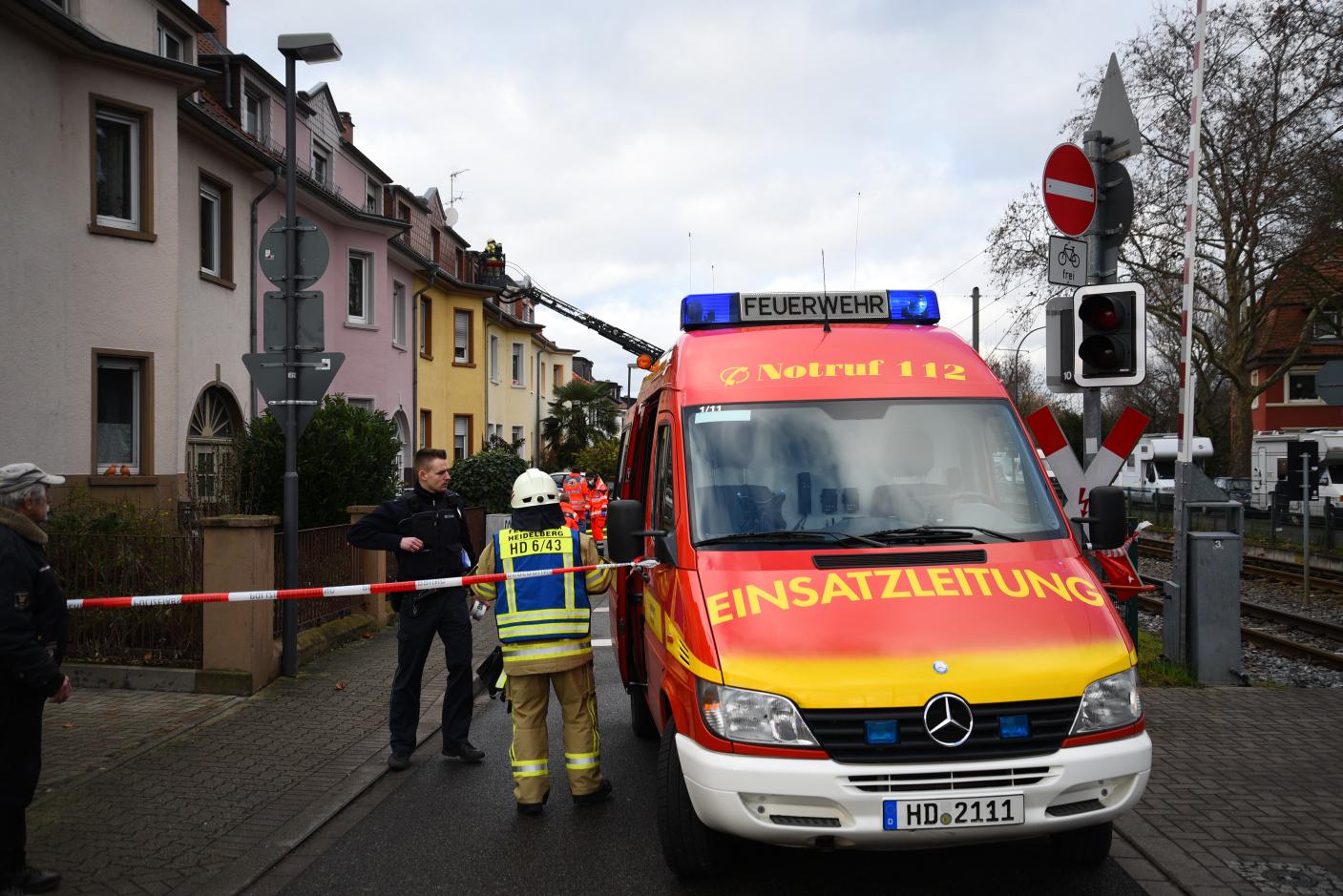 Heidelberg-Wieblingen: Wohnungsbrand - keine Verletzten - Straßensperrung
