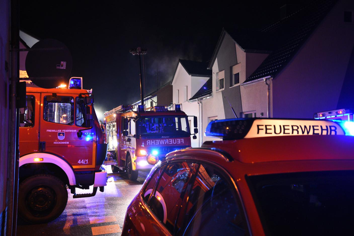 Hockenheim/Rhein-Neckar-Kreis: Brand in leerstehendem Einfamilienhaus - Ursache technischer Defekt