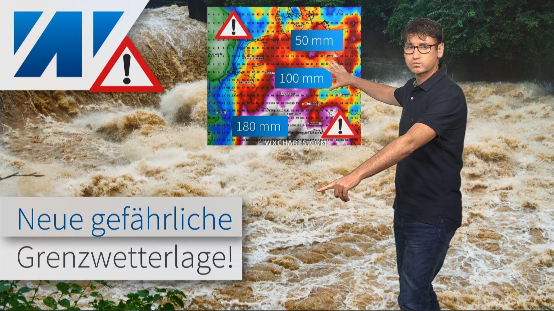 Wetterexperte warnt vor neuer gefährliche Unwetterlage: 180 mm Regen bis Ende Juli!