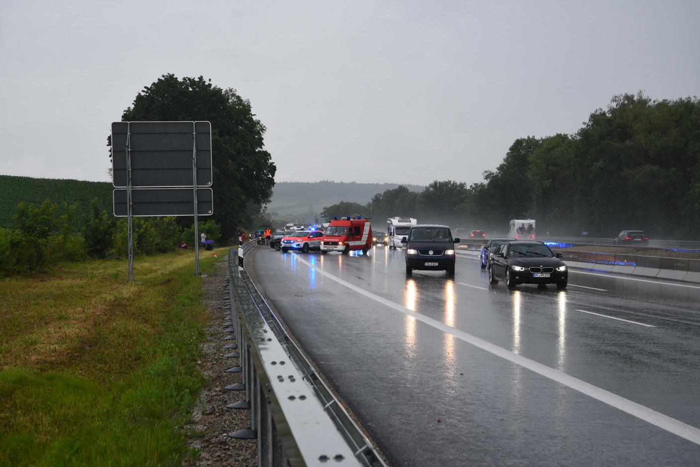 Sinsheim: Unfall mit mehreren beteiligten Fahrzeugen
