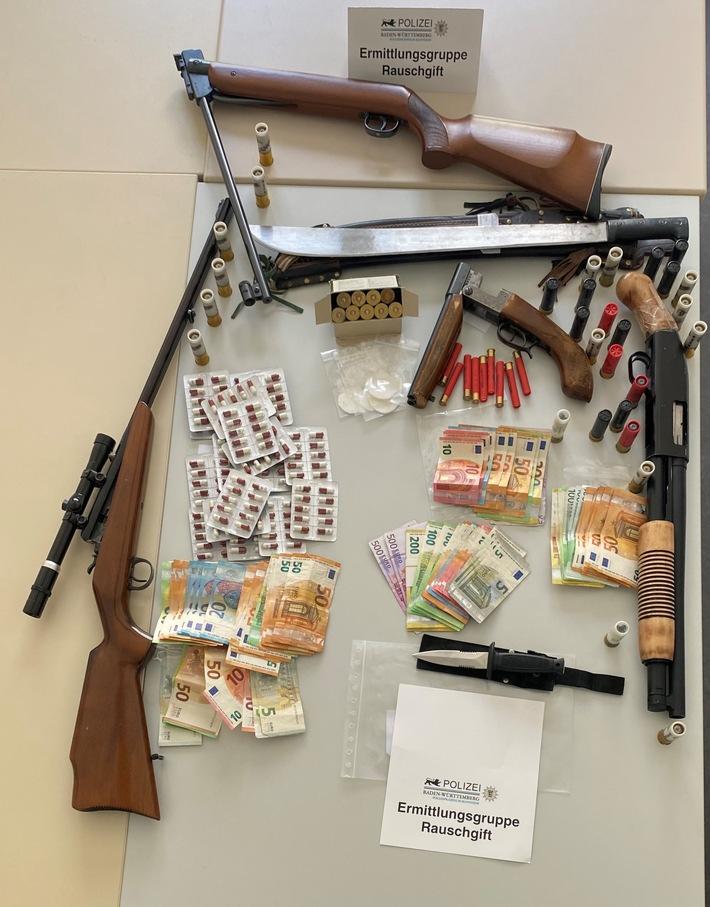 Durchsuchungen und Festnahmen in einem Ermittlungsverfahren der Staatsanwaltschaft Mannheim wegen Verdachts des gewerbsmäßigen Handels mit Betäubungsmitteln in