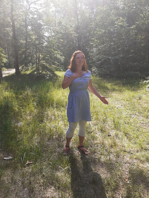 Singen im Wald