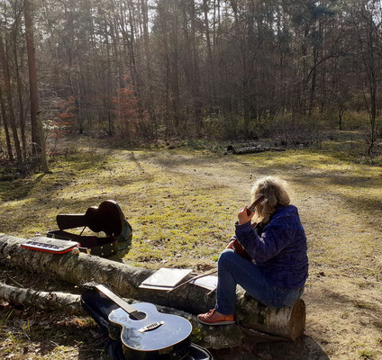 Songwriting im Wald