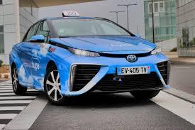 taxi à hydrogène. Paris