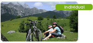 Mountain biking and relaxation in mountain pastures in Northern Montenegro