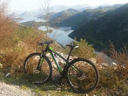 Above of Lake Skadar Nationalpark