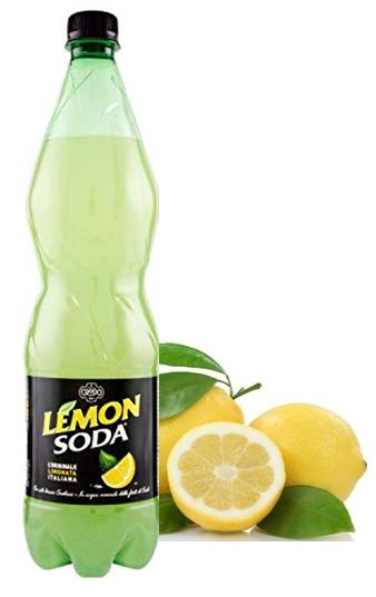 Lemon Soda - la boisson gazeuse populaire d'Italie - maintenant aussi dans la bouteille de 1 litre