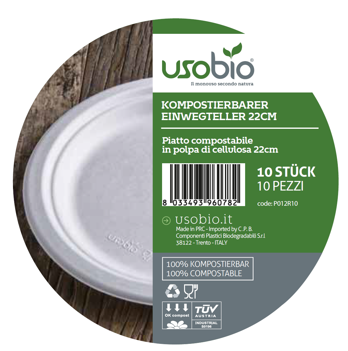 Usobio - Vaisselle jetable compostable