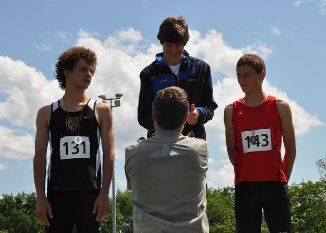 Deutscher Meister wurde N.Mang beim Speerwurf mit 40,26 m.