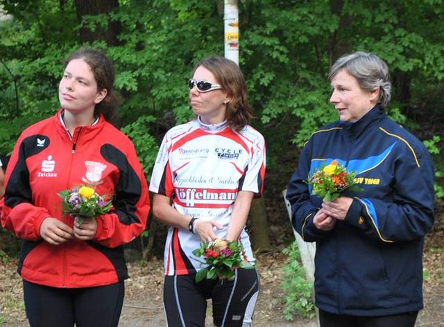 Rechts: Juliane Beucher mit 2.Platz