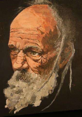 Zacharie    Huile sur toile 38 x 46