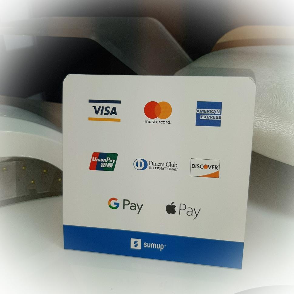 Kartenzahlung und Pay ist bei mir möglich