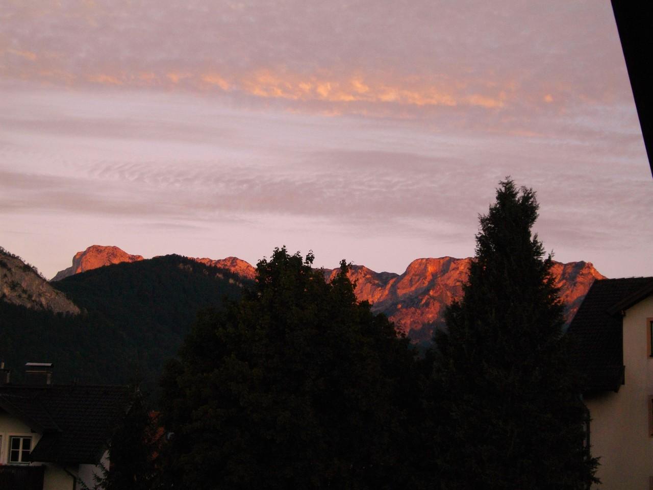 Südostansicht vom Untersberg von meinem Balkon aus gemacht