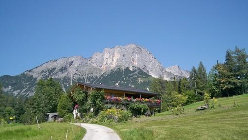 Der Untersberg in der Nähe von Maria Gern in Bayern