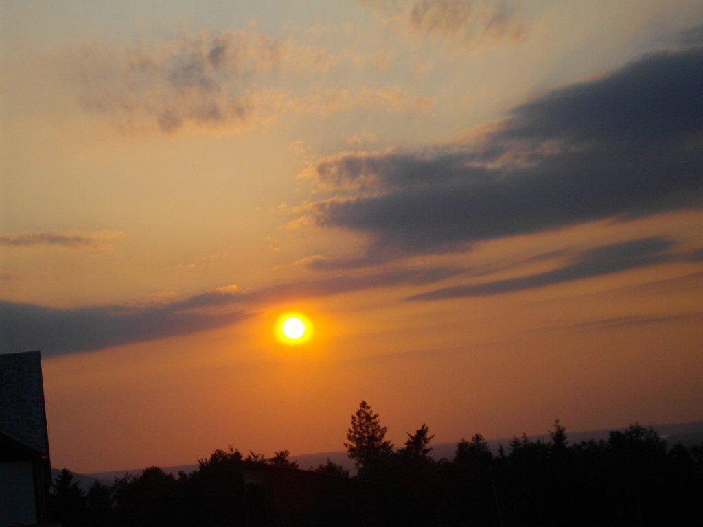 Sonnenuntergang - fotografiert von der Erentrudisalm