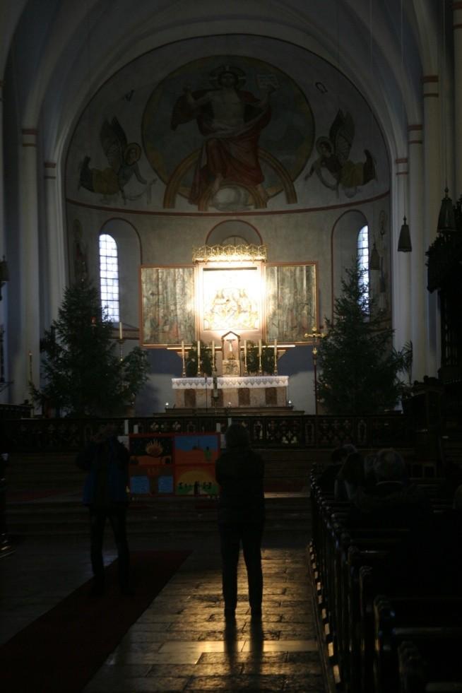 Altarerleuchtung, Kirche St. Zeno 21.12.2013