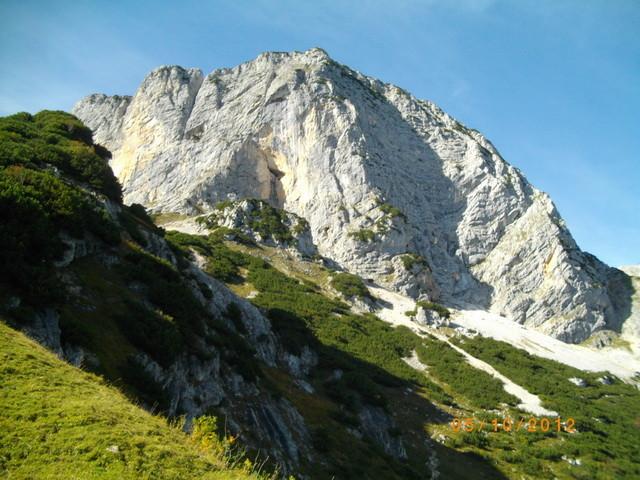 Blick vom Scheibenkaser zum Berchtesgadener Hochthron