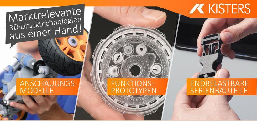 "Rapid Prototyping - ""3D Drucker"" für Funktions Prototypen, Kleinserien, endbelastbare Bauteile, Anschauungsmodelle"