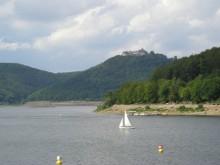 Edersee mit Blick aus Schloss Waldeck