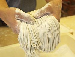 (6)そば麺の出来上がりです。