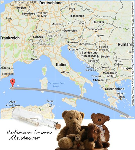 Kasimir, Cäsar, Fredi und Kerl auf Mallorca und Kreta
