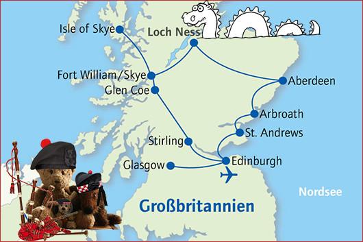 Kasimir, Cäsar und Fredi besuchen Nessi in Schottland