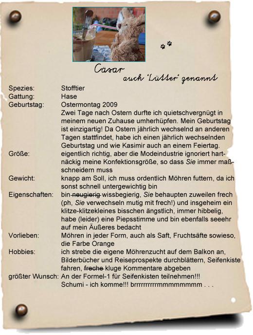 Cäsars Steckbrief