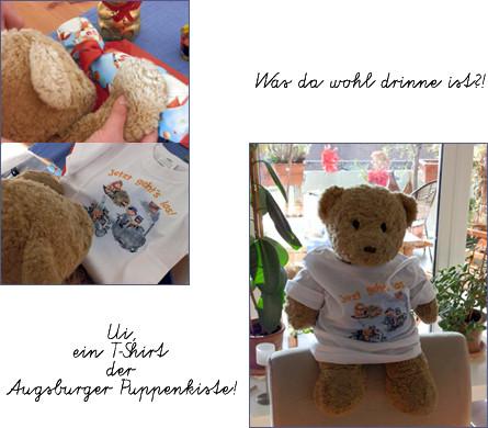 Kasmirs Geburtstagsgeschenk 2011, ein T-Shirt der Augsburger Puppenkiste