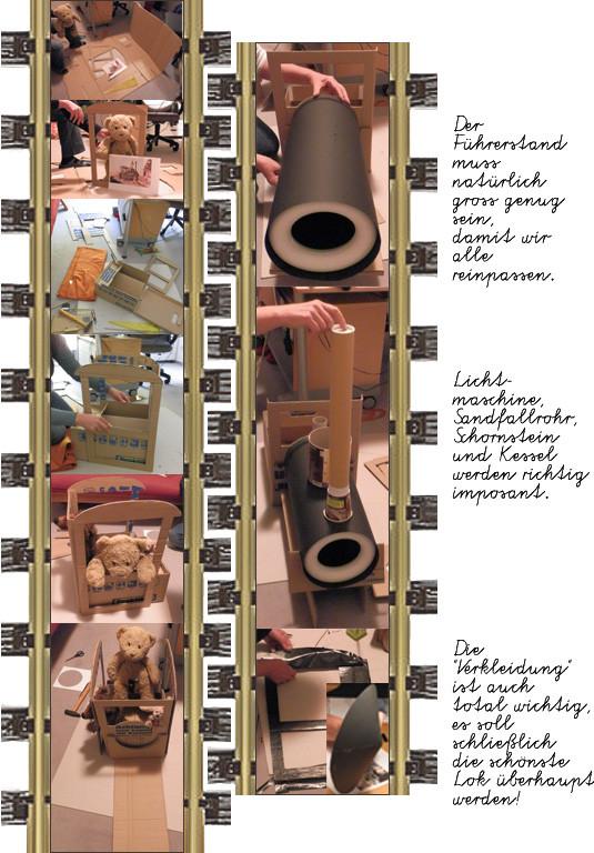 Der Bau von Kasimirs, Cäsars und Fredis Lokomotive